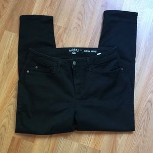 Riders by Lee Midrise Skinny Jeans Black Size 14P